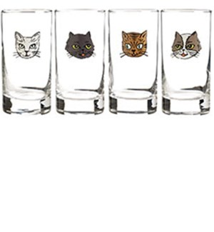 Cat Glasses S/4- Wnp