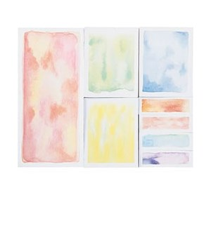 Watercolor Sticky Note Set