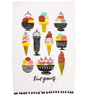 Ice Cream Tea Towel S/2