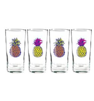 Bright Pineapples Glasses