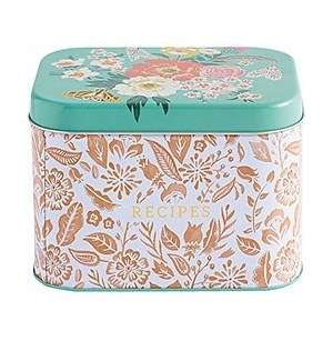 Floral Recipe Box (40 cards, 8 dividers)