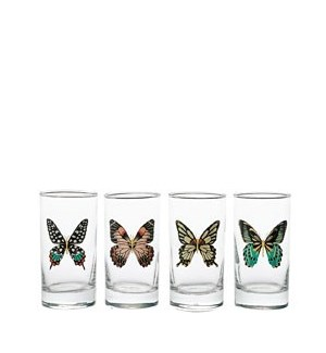 Butterfly Glasses S/4