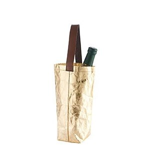 Reusable Wine Tote Gold