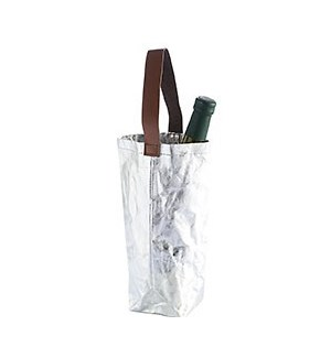 Reusable Wine Tote Silver