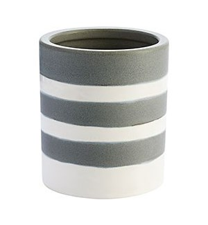 Striped Earthenware Vase