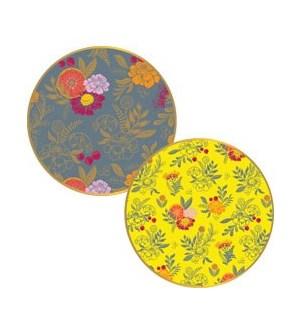 Citrus Floral Lg Plates S/10