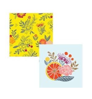 Citrus Floral Napkins S/20