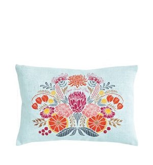 Citrus Floral Pillow