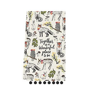 Woodland Friends Tea Towel