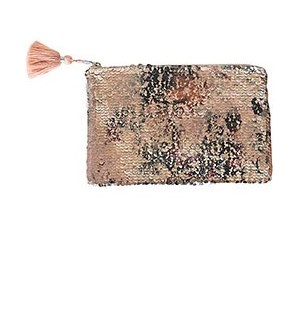 Blush Sequin Clutch