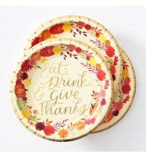 Autumn Floral Appetizer Plate