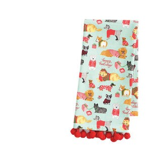 Holiday Dogs in PJ's Tea Towel