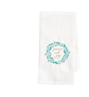 Peace and Joy Waffle Tea Towel