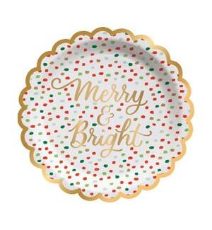 Merry & Bright Confetti Appetizer Plate