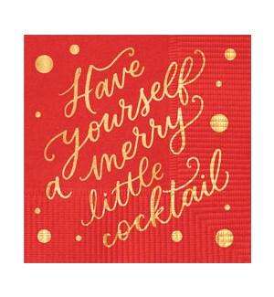 Merry Little Cocktail Napkin