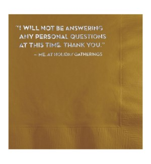 Napkins_personal questions_box of 20