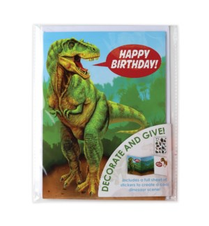 Dinosaur Foil Decorate Your Own Card