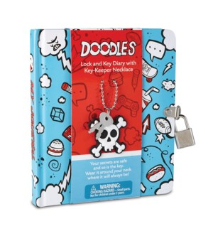 Doodle Diary With Key-Keeper Necklace