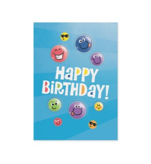 Happy Faces With Puffy Stickers Card