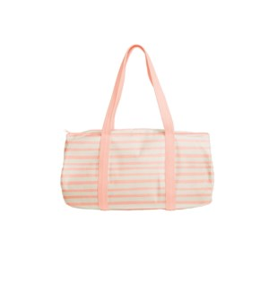 Darling Duffel Tote Canvas - Peach - Stripes