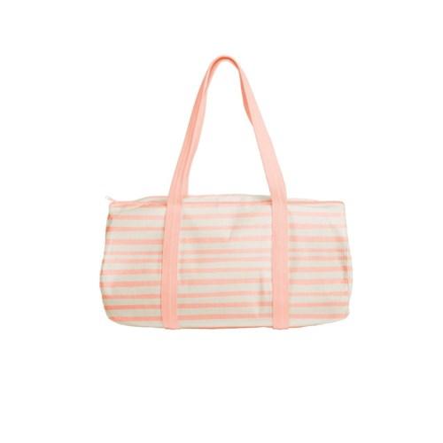 Darling Duffel Tote Canvas - Peach - Stripes