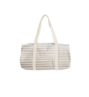 Darling Duffel Tote Canvas - Natural - Stripes