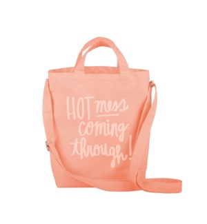 Puddlejumper Tote Canvas - Peach - Hot Mess