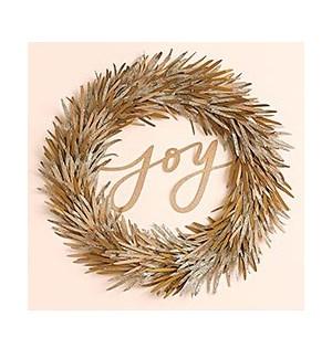 Gold Glitter Joy Wreath Kit