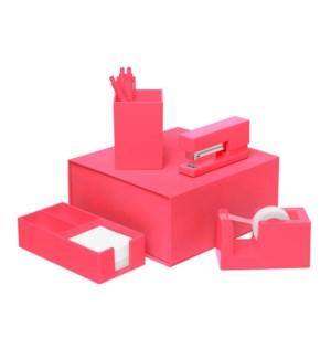 Neon Coral Desk Set