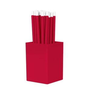 Bulk Pencils - with cup - Red
