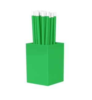 Bulk Pencils - with cup - Grass Green