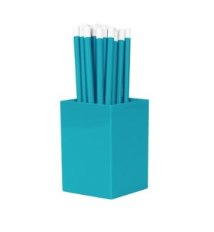 Bulk Pencils - with cup - Bright Blue