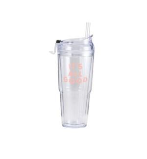 It's All Good Clear Plastic Tumbler