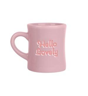 Hello Lovely Pink Diner Mug
