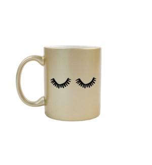 Eyelashes Gold Mug