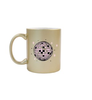 Disco Ball Gold Mug