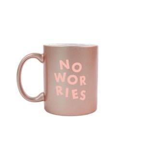 No Worries Rose Gold Mug