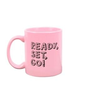 Ready Set Go Blush Pink Mug
