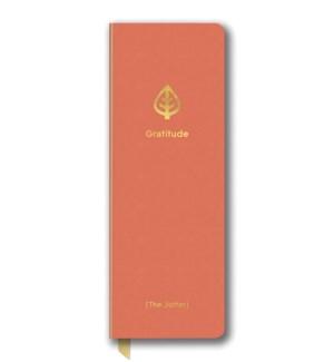 Leatheresque Jotter Journals Gratitude Coral