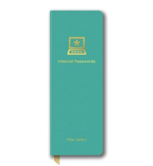 Leatheresque Jotter Journals Passwords Turquoise