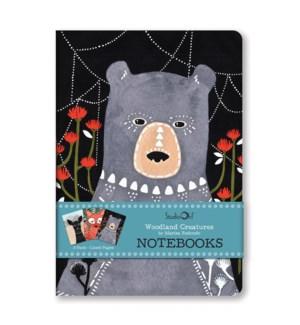 Notebook Trios Woodland Creatures