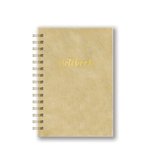Leatheresque Spiral Notebooks Gold Rush