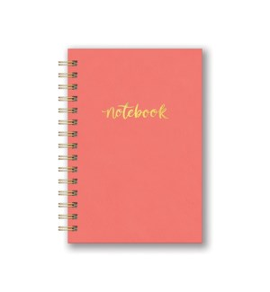 Leatheresque Spiral Notebooks Pop of Coral