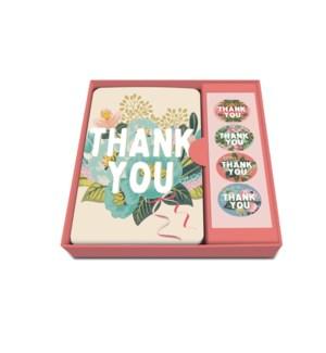 Notecard Set Flower Field-Thank You