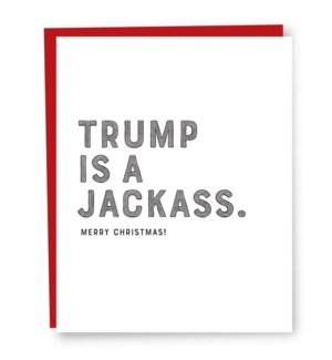 Trump  jackass card