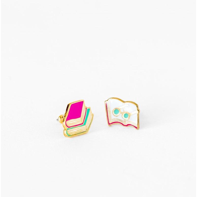 Books & Glasses Earrings