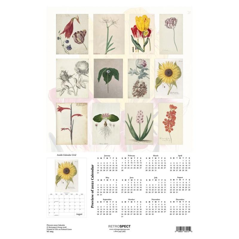 Flowers  Wall Calendar 12.5x19 Retrospect