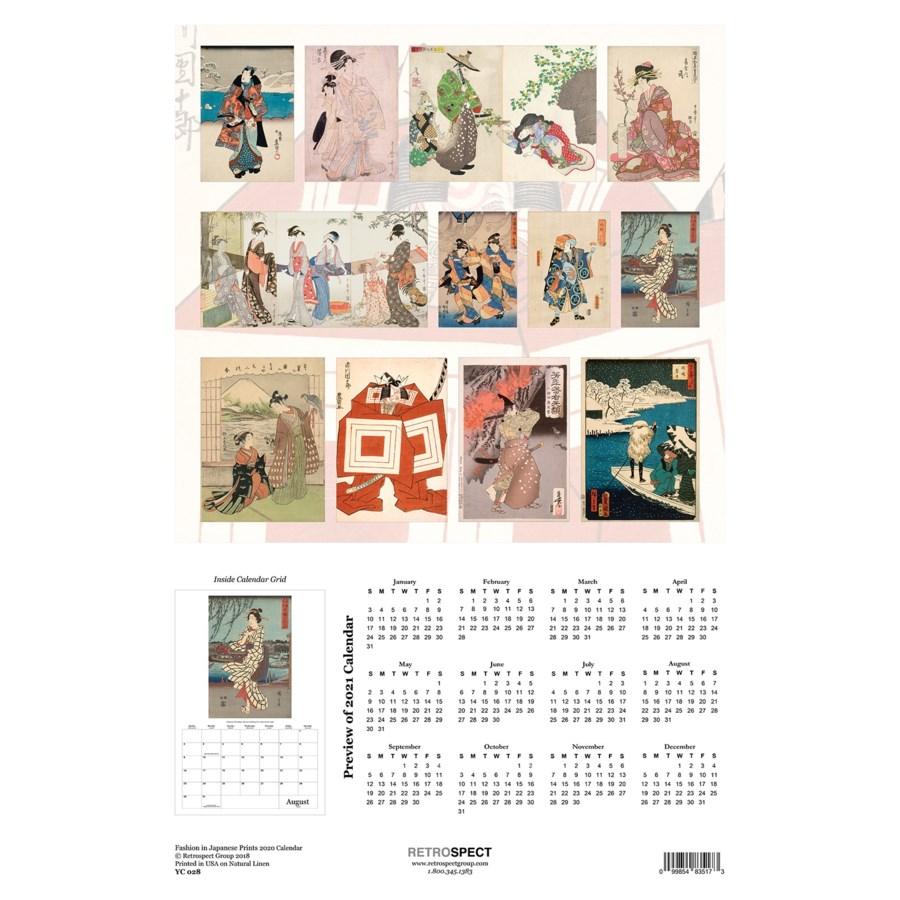 Fashion in Japanese Art Calendar 12.5x19 Retrospect