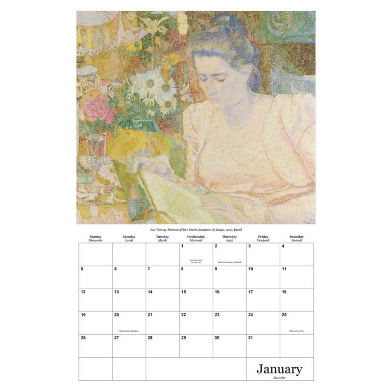 The Art Of Reading Calendar 12.5x19|Retrospect