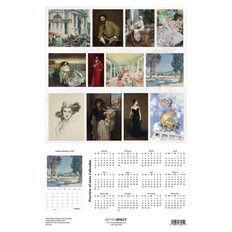 John Singer Sargent 12.5x19|Retrospect